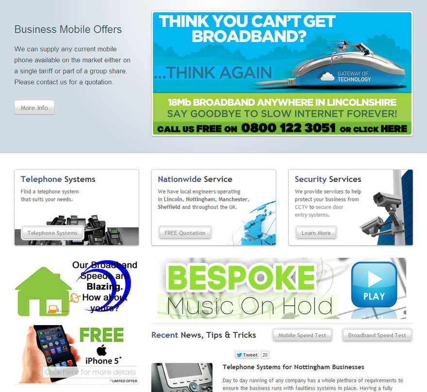 Gateway Of Technology Old Homepage Design