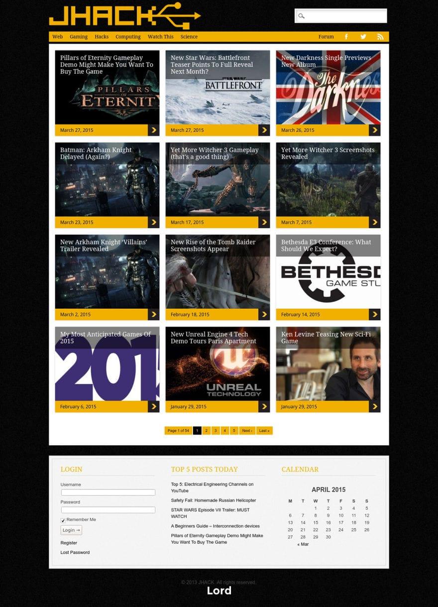 JHACK homepage