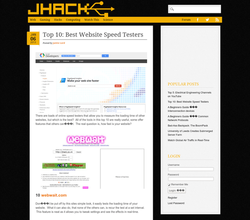 JHACK post page