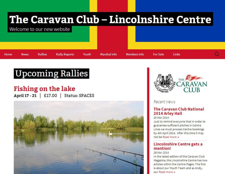 The Caravan Club - Lincolnshire Centre Homepage